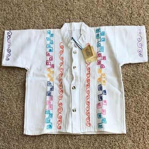 Other - Mexican embroidered button up toddler size 3-4
